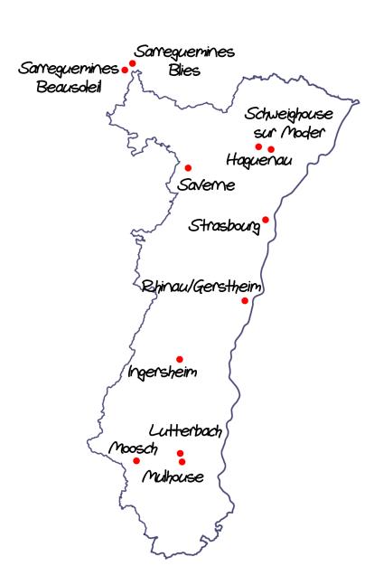 Cartes des écoles ABCM Zweisprachigkeit